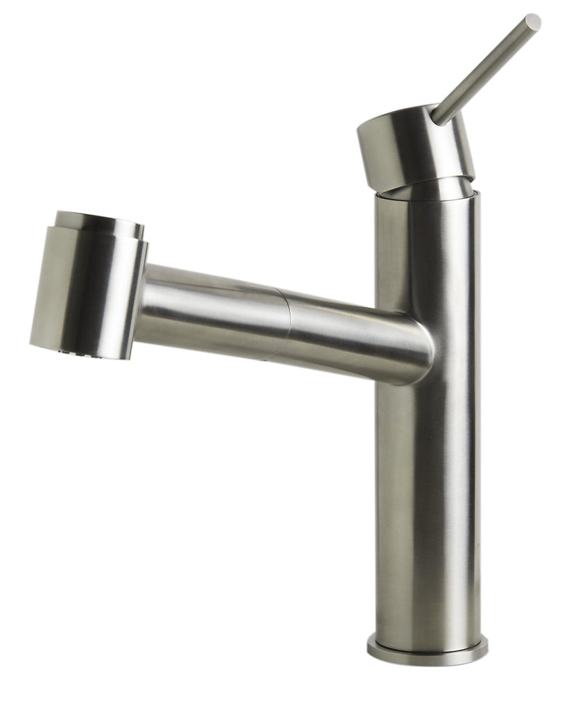 ALFI brand AB2203-BSS Brushed Stainless Steel Kitchen Faucet /w Pull-Out Spray