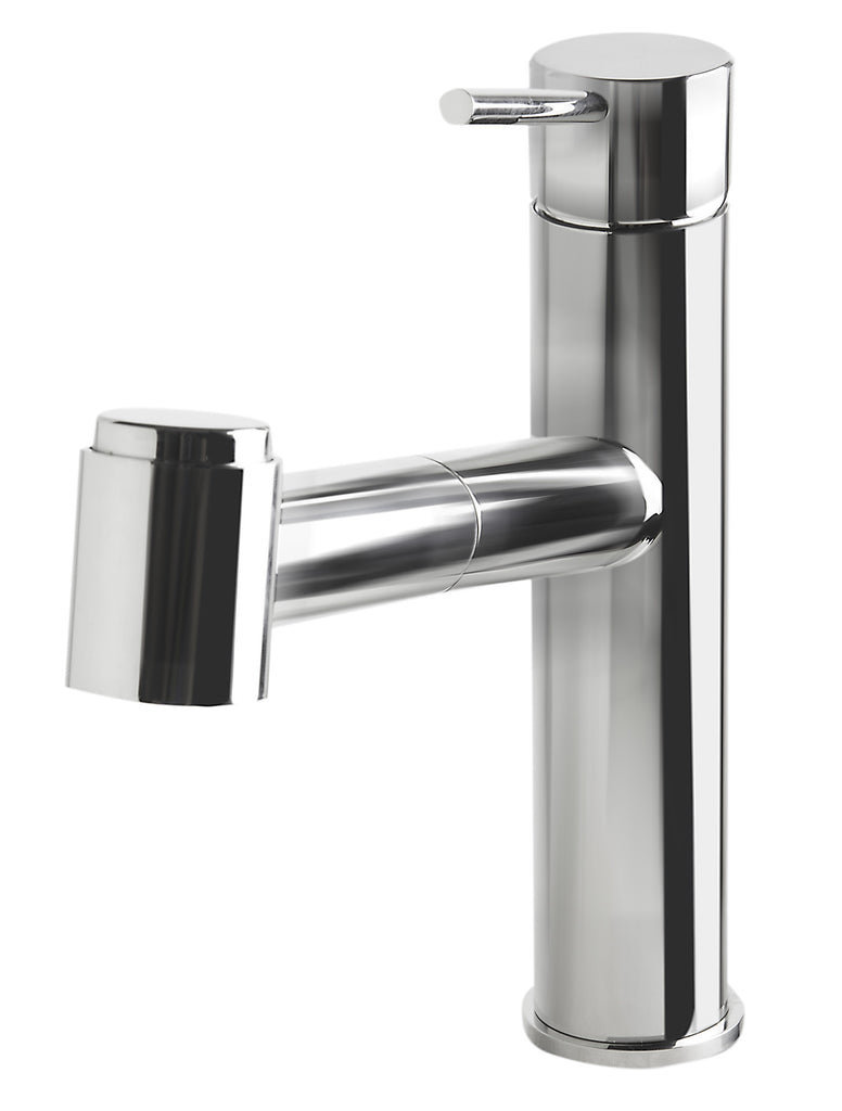 ALFI brand AB2203-PSS Polished Stainless Steel Kitchen Faucet /w Pull-Out Spray