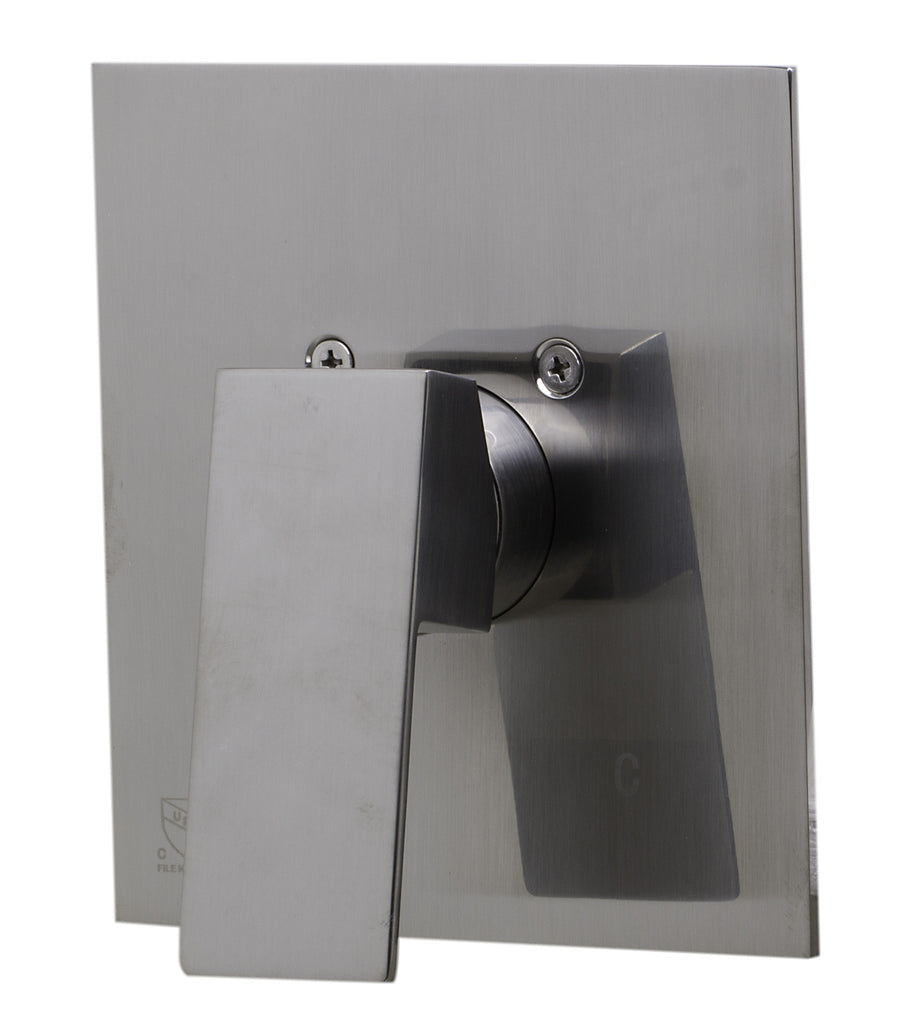 ALFI brand AB5501-BN Brushed Nickel Shower Valve Mixer with Square Lever Handle