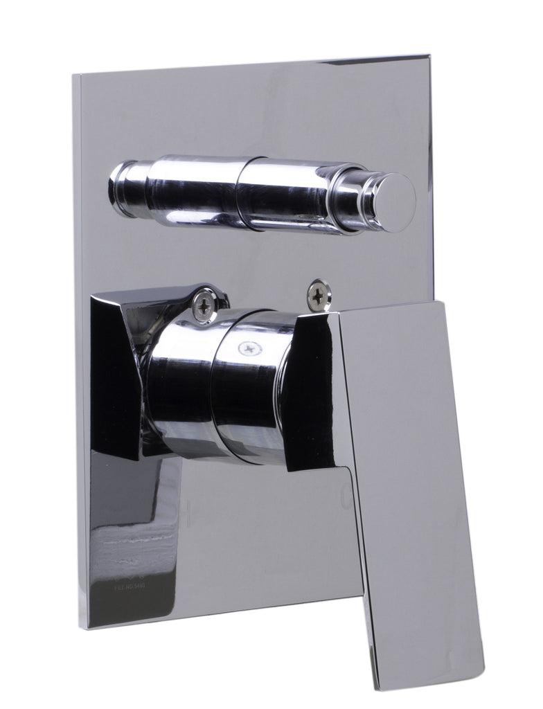 ALFI brand AB5601-PC Polished Chrome Shower Valve Mixer with Square Lever Handle and Diverter