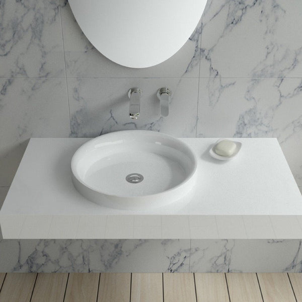"Circular Wall Mounted Sink (39""x20"") DW-116"