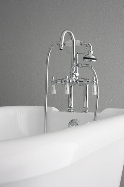 "53"" HOTEL COLLECTION COREACRYL ACRYLIC CLASSIC CLAWFOOT TUB AND FAUCET PACK"