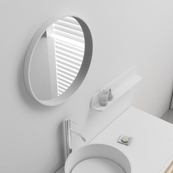 "Circular Wall Mounted Mirror (28'x28"") Reg or LED - MW-101"