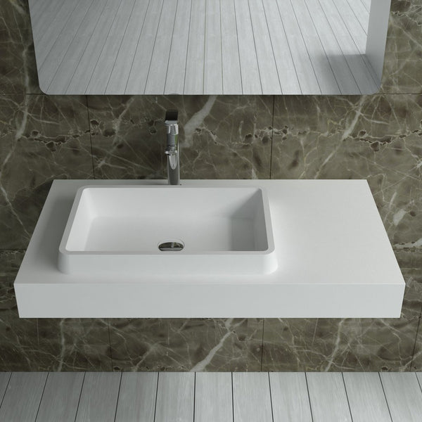 "Rectangular Wall Mounted Sink (35""x20"") DW-114"