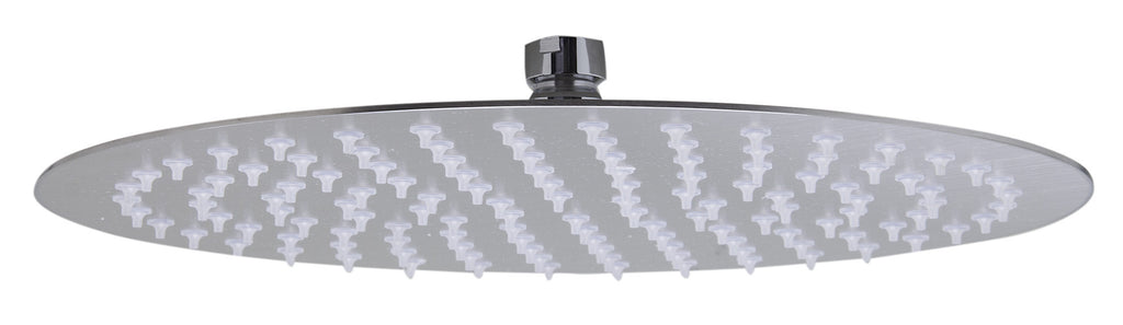"ALFI brand RAIN12R-BSS Solid Brushed Stainless Steel 12"" Round Ultra Thin Rain Shower Head"