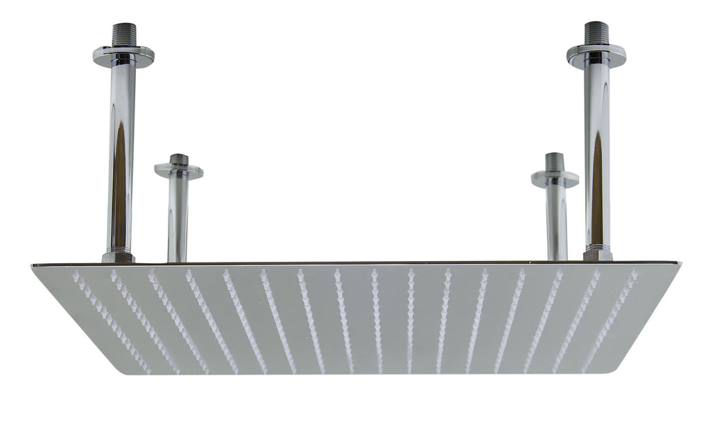 "ALFI brand RAIN20S-PSS 20"" Square Polished Solid Stainless Steel Ultra Thin Rain Shower Head"