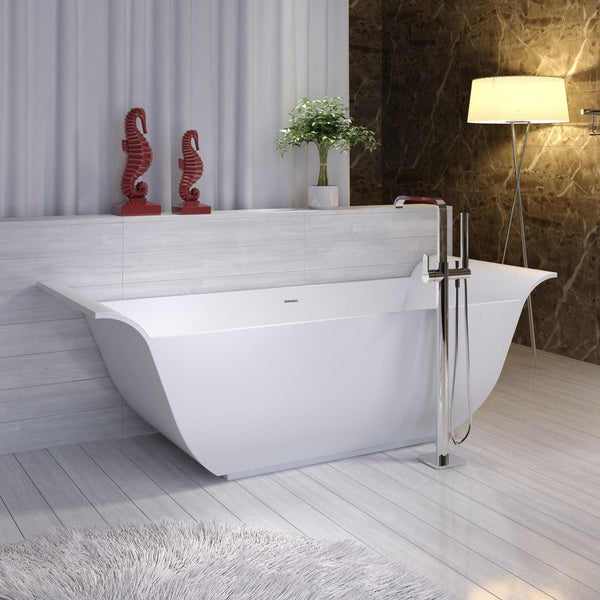 "Curved Freestanding Bathtub (77""x30"") - SW-117"
