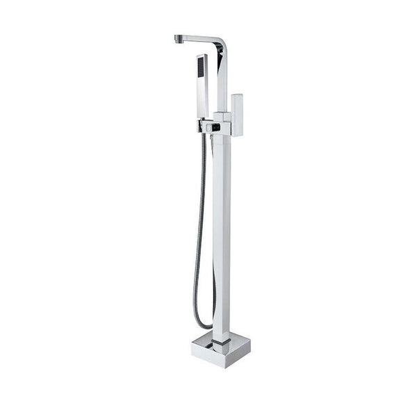 Brushed Nickel or Chrome Free Standing Bathtub Filler - BF-111
