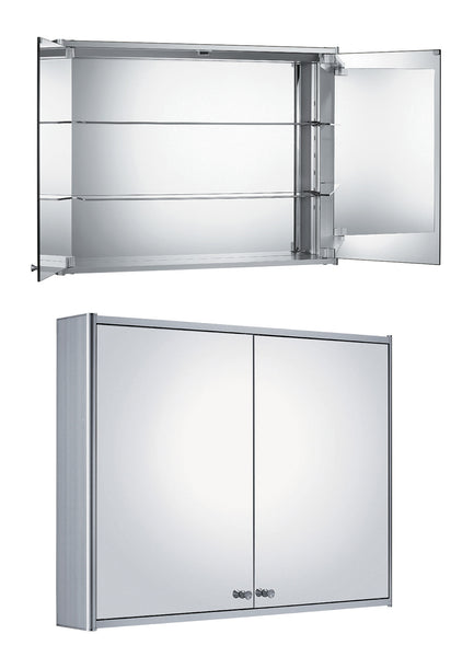 "48"" Double two sided mirrored door medicine cabinet"