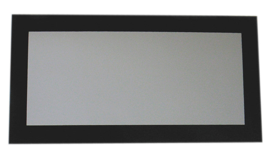 Aeri rectangular shaped mirror with laminated black glass frame