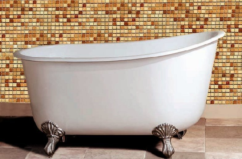 "53.5"" Cast Iron Swedish Slipper Tub"