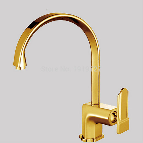 100% Solid Brass Single Handle Kitchen Faucet