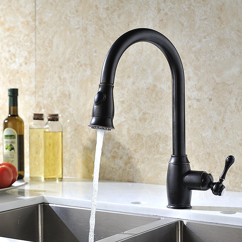 Oil Rubbed Bronze Pull Out Kitchen Sink Faucets Traditional Brushed