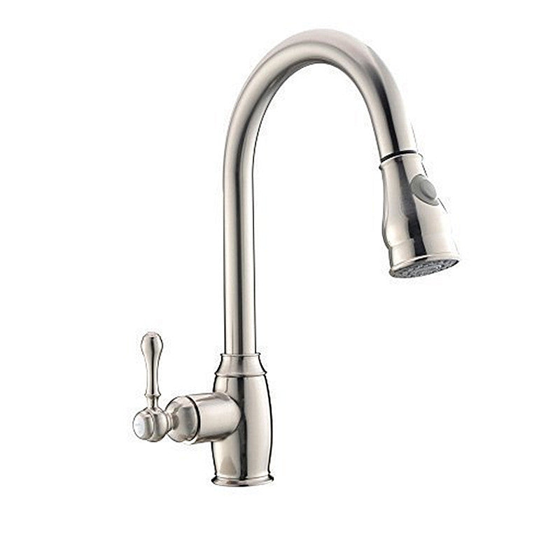 ... Oil Rubbed Bronze Pull Out Kitchen Sink Faucets Traditional Brushed  Nickel Single Handle Rotatable Pullout Spray