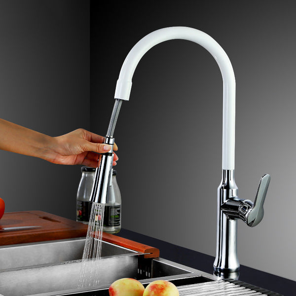 360 Swivel Single Handle Pull Out Down Kitchen Faucet  4 color