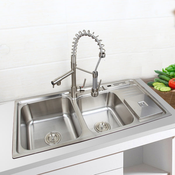 920mmx450mm Stainless Steel Kitchen Sink Vessel Faucet