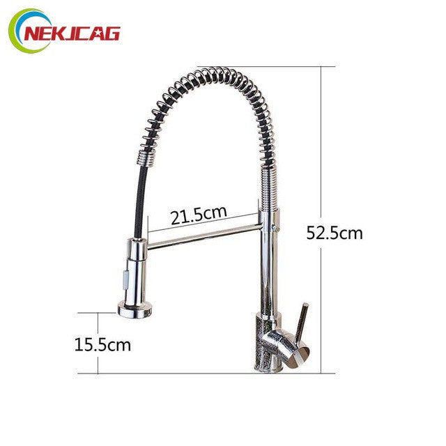 Chrome or Black Kitchen One Handle Single Hole with Side Spout Faucet