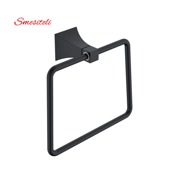 Smesiteli Solid Brass Square Ring Wall Mount Towel Bathroom Holder