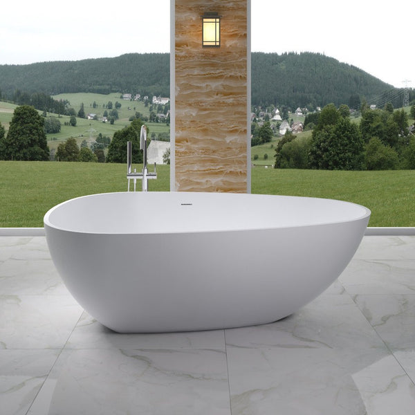 "Elipsed Freestanding Bathtub (75""x46"") - SW-114"