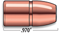 A-Frame Lever Action Rifle Bullets Cal 45/70 | 350 gr