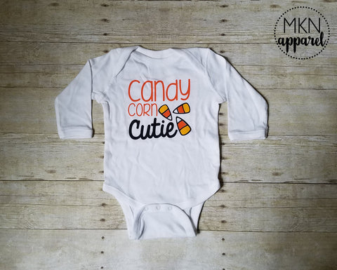 Candy Corn Cutie Bodysuit, Halloween Baby Shirt, Halloween Bodysuit, Cute Halloween Bodysuit, Infant Shirt