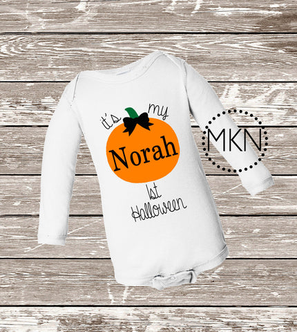 1st Halloween, Infant Bodysuit, Babys First Halloween, Cute Halloween Bodysuit, Halloween Shirt