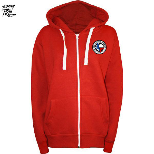 LIMITED EDITION FIRE FOREVER TRILL HOODIE - RED