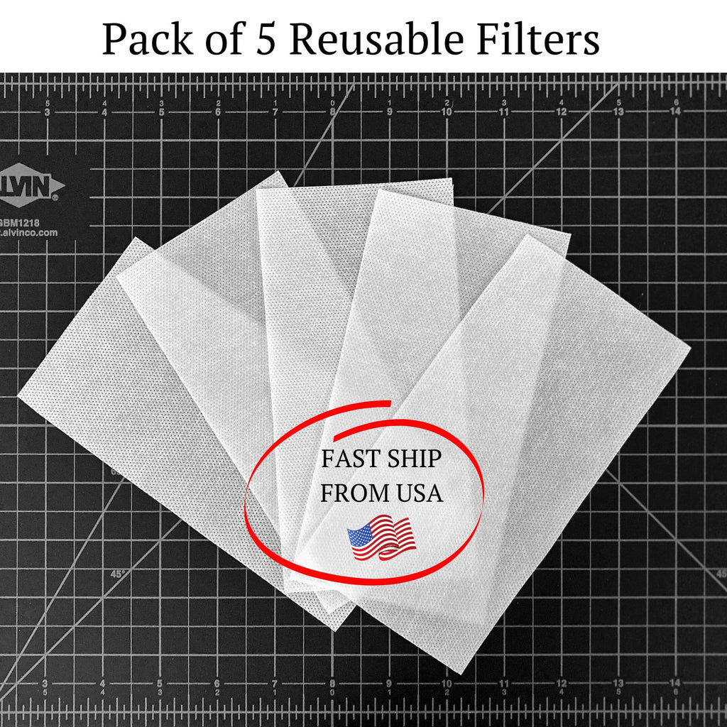 5 Filters For Face Mask - Universal/ Re-Usable - OLIVE + LOU