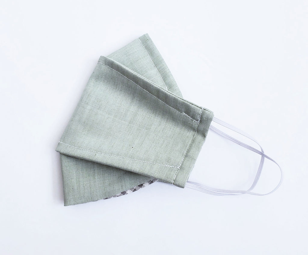 Origami Mask in Sage - OLIVE + LOU