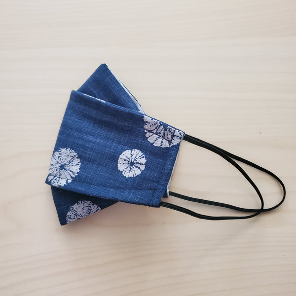 Origami Mask in Sand Dollar Blue