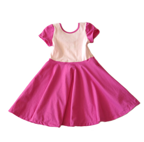 twirl spin dress girls toddler kids valentines day pink twirling designer cute soft jersey outfit gift handmade