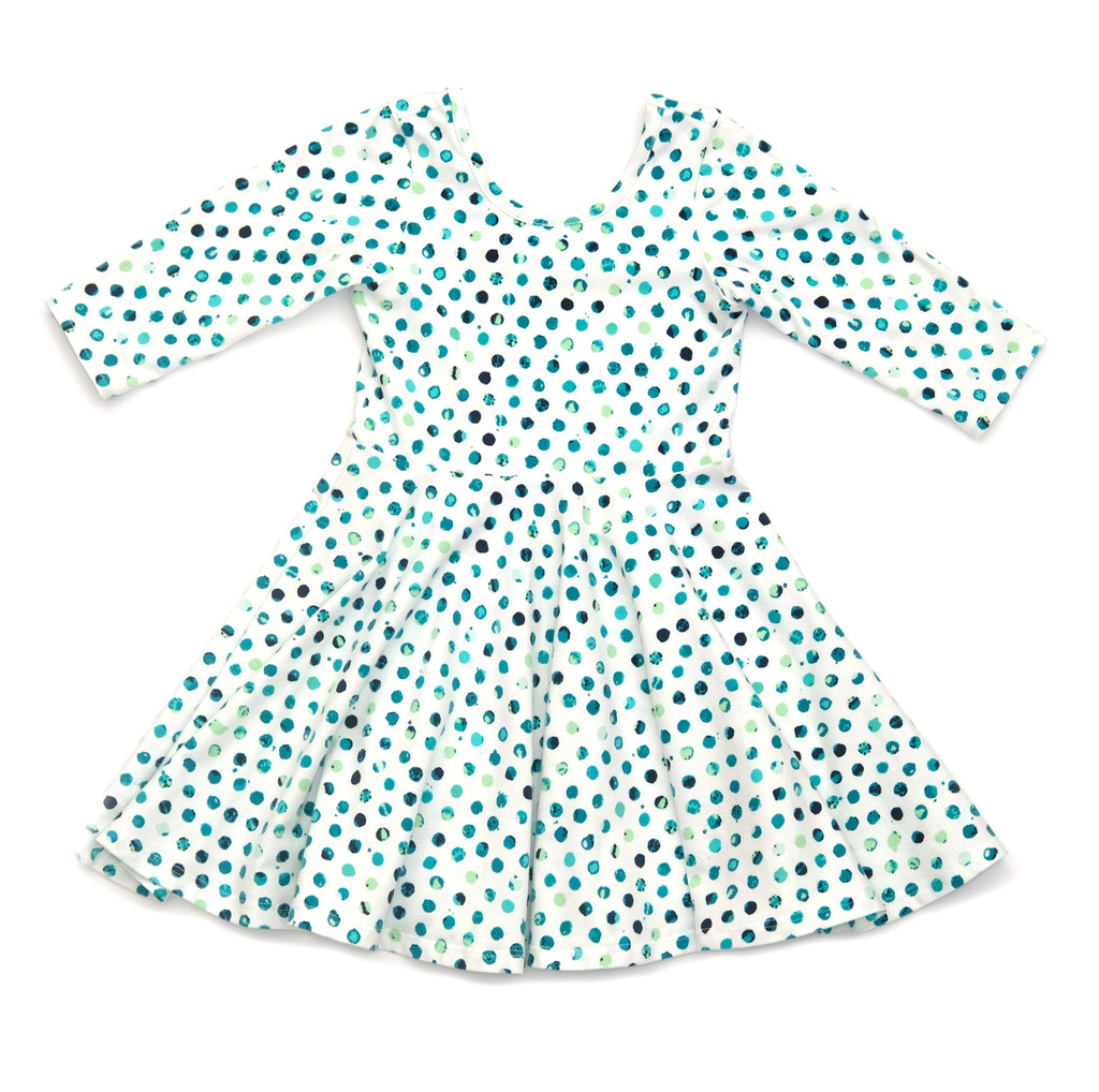 Toddler Girls Kids / Skater Dress in Polka Dots