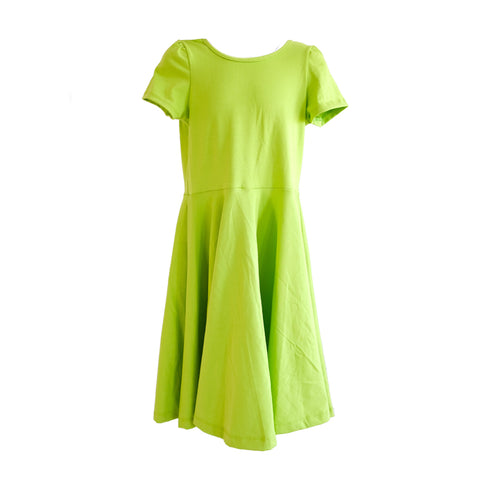 Skater Dress in Lime - OLIVE + LOU