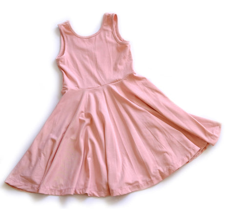 Girls kids dress toddler fashion twirl twirling spin ballerina pink