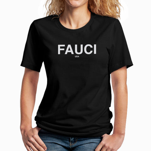 fauci tee shirt black science believe silk screen made fendi usa bella and canvas cotton tee graphic