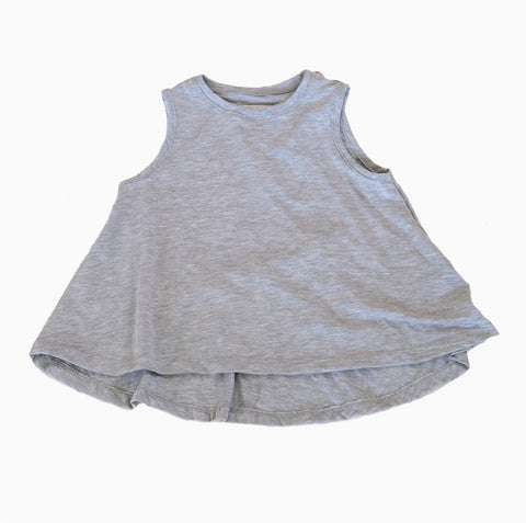 Grey Swing Tank Top girls toddler baby shirt sleeveless  handmade flowy boho summer jersey Clothing
