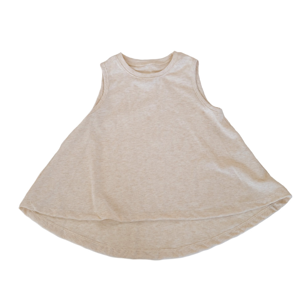 Cream Swing Tank Top girls toddler baby shirt sleeveless  handmade flowy boho summer jersey Clothing