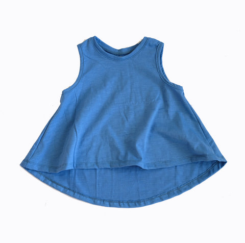 Blue Swing Tank Top girls toddler baby shirt sleeveless  handmade flowy boho summer jersey Clothing