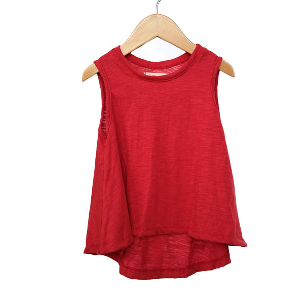 Apple Red Swing Tank Top girls toddler baby shirt sleeveless  handmade flowy boho summer jersey Clothing
