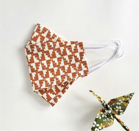 Origami Mask in Sienna - OLIVE + LOU