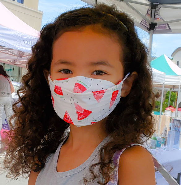 Origami Mask Japanese Resuable Filter Wire Girls women kids watermelon 3D best comfortable breathable USA