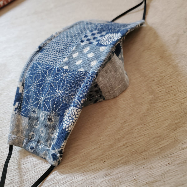 Origami Mask - Japanese Patchwork Light Blue