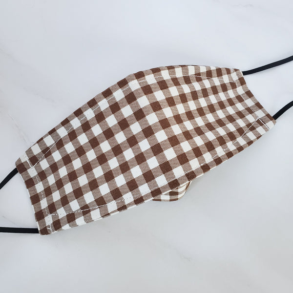 Origami Mask - Japanese Brown Check