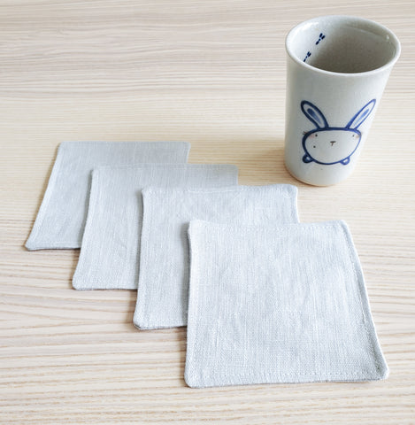 Lithuanian Linen Coasters in Pale Blue