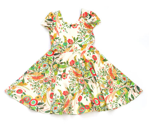 Summer Skater Dress in Garden Party
