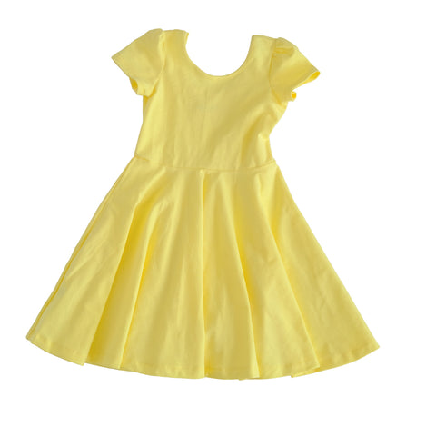 Skater Twirling girls Dress in yellow