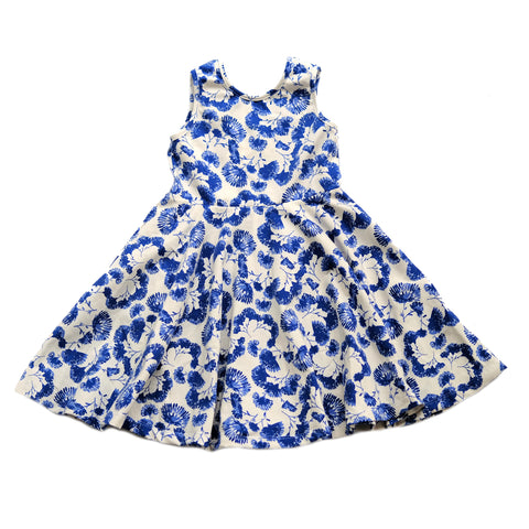 Skater Twirling girls kids baby Dress clothing in floral flowers summer sleeveless