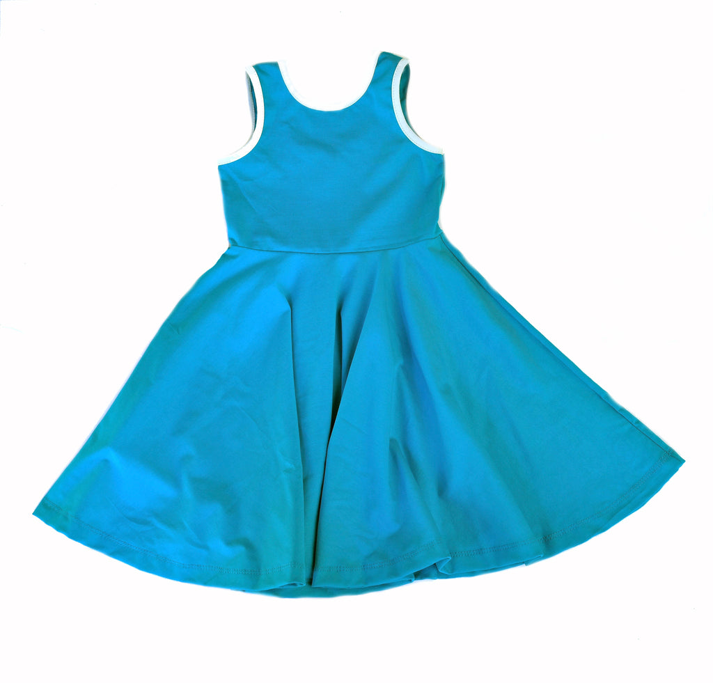 Girls kids dress toddler twirl twirling spin ballerina turquoise blue