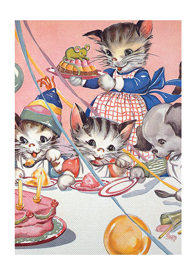 Card | Birthday | Cats' Birthday Party