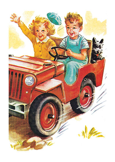 Card | Love | A Boy and a Girl Riding in a Car